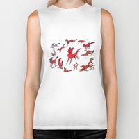 foxes Biker Tanks featuring Foxes by Kit Seaton