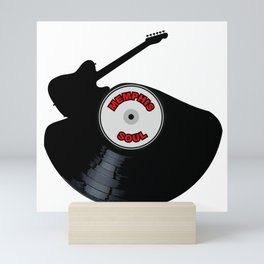 Memphis Soul Music Silhouette Record Mini Art Print