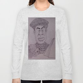 Caricature of young cartoonist Long Sleeve T-shirt
