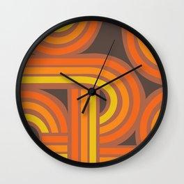 70's Orange Funky Wall Clock