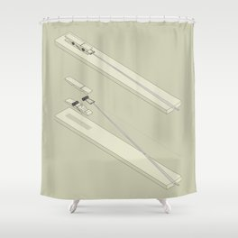 Clothespin shotgun Shower Curtain