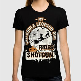 My Catahoula Leopard Dog Rides Shotgun Funny Gift Dog Lover T-shirt