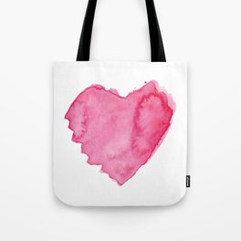 Watercolor Heart. Red pink home decor. Simple design. Tote Bag