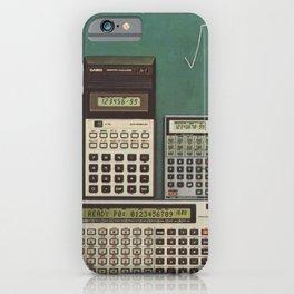 Casio Calculators...the good old days. iPhone Case