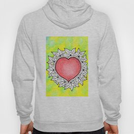 Watercolor Doodle Art | Heart Hoody