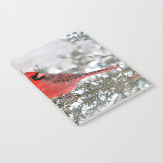 Winter's Beauty Cardinal Notebook