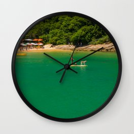 Beach in Buzios, Rio de Janeiro (Brasil) Wall Clock