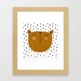 Patterned Bear Framed Art Print
