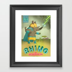 Rhino Framed Art Print