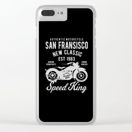 authentic motorcycle Clear iPhone Case