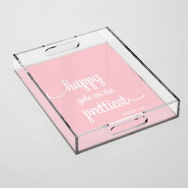 Happy Girls Acrylic Tray