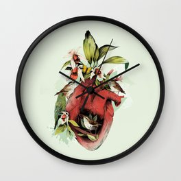 Heart Of Birds Wall Clock
