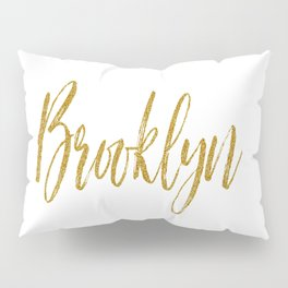 Brooklyn Typographic Poster Pillow Sham