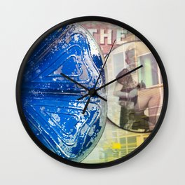 Musical Blue Mood, Flowers Photography Wall Clock