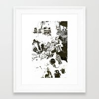 the who Framed Art Prints featuring Who by Eternal