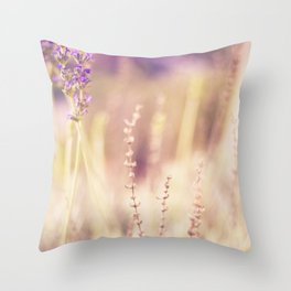 Lavender in Winter Throw Pillow