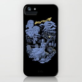 Hispanic Legend La Llorona (purple) iPhone Case