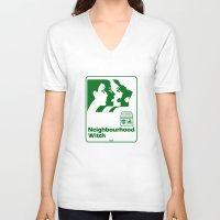 the neighbourhood V-neck T-shirts featuring Neighbourhood Witch by Crank Institute