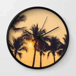 Good Vibes #society6 #palm trees Wall Clock