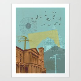 The light gets in Art Print