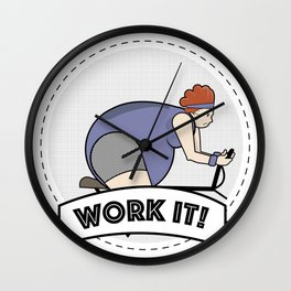 Work It! Wall Clock