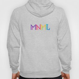 Minimal Type (Colorful Edm) Typography - Design Hoody