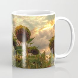 field of faded sunflowers  Coffee Mug