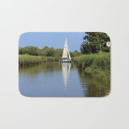 Sailing on the Norfolk Broads Bath Mat