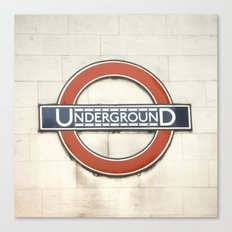Underground - London Metro Photography Canvas Print