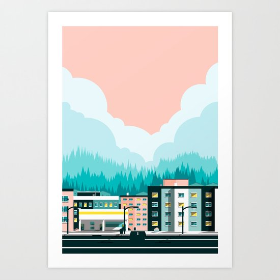 A View of 12th Avenue Art Print