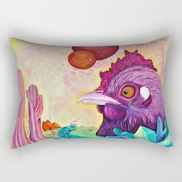Activated Crystal Chicken Rectangular Pillow