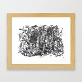 The City & Roller Coaster Caravan moving Framed Art Print