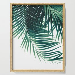 Palm Leaves Green Vibes #4 #tropical #decor #art #society6 Serving Tray