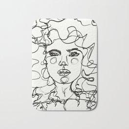 Curly Lines Girl Bath Mat