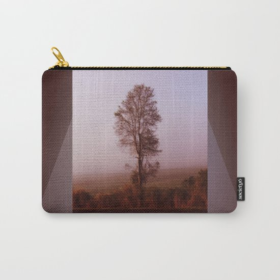 Standing alone in the fog Carry-All Pouch