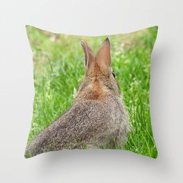 I've Still Got My Eye On You #rabbit #bunny #nature  Throw Pillow