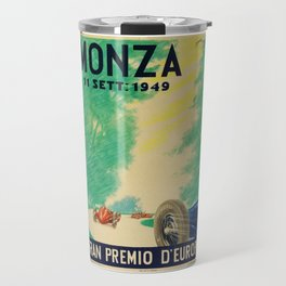 Grand Prix Monza, 1949, Gran Premio Monza, vintage poster Travel Mug