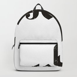 Jesus with cross black and white Backpack