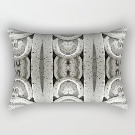 Architectural Rings Abstract Rectangular Pillow