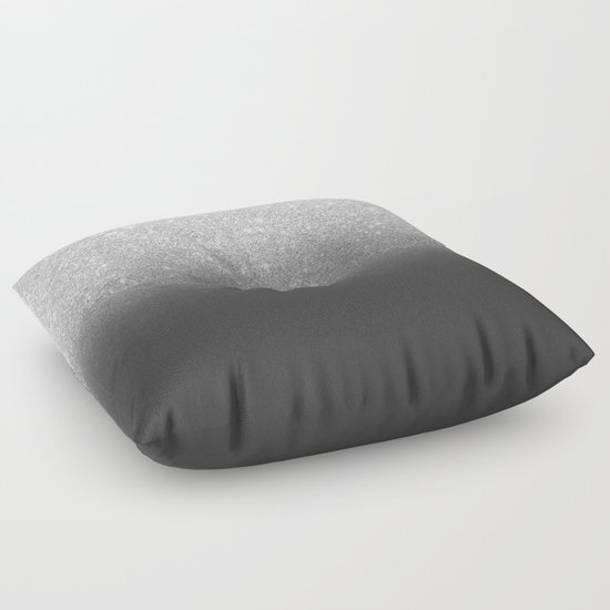 Modern Silver Pillows : Modern faux silver glitter ombre grey black color block Floor Pillow by Girly Trend Society6
