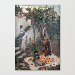 John William Waterhouse - The orange gatherers Canvas Print