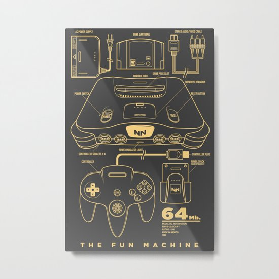 N64 Metal Print
