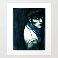 merlin Art Prints featuring Merlin by The Hopeful Raincoat