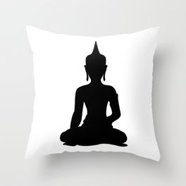 Simple Buddha Throw Pillow