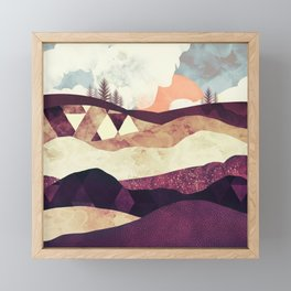 Plum Fields Framed Mini Art Print