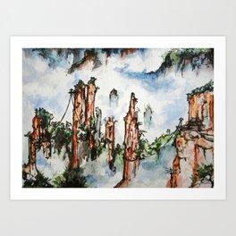Floating Mountains Art Print