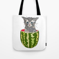 Kitty Cat Watermelon Tote Bag