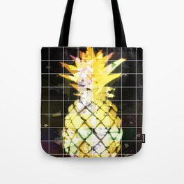 yellow pineapple with geometric triangle pattern abstract Tote Bag