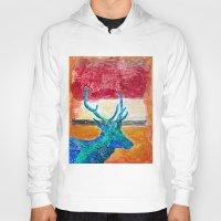 rothko Hoodies featuring Deer Rothko by winterkl