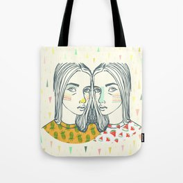 Last Sunset Twins Tote Bag